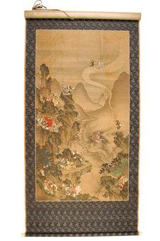 Peinture représentant des Immortels