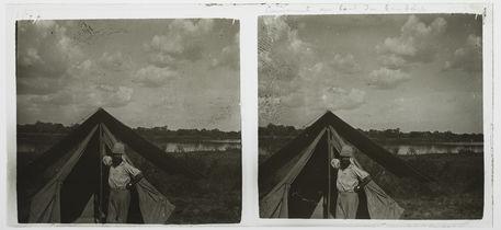 Campement au bord du Zambèze